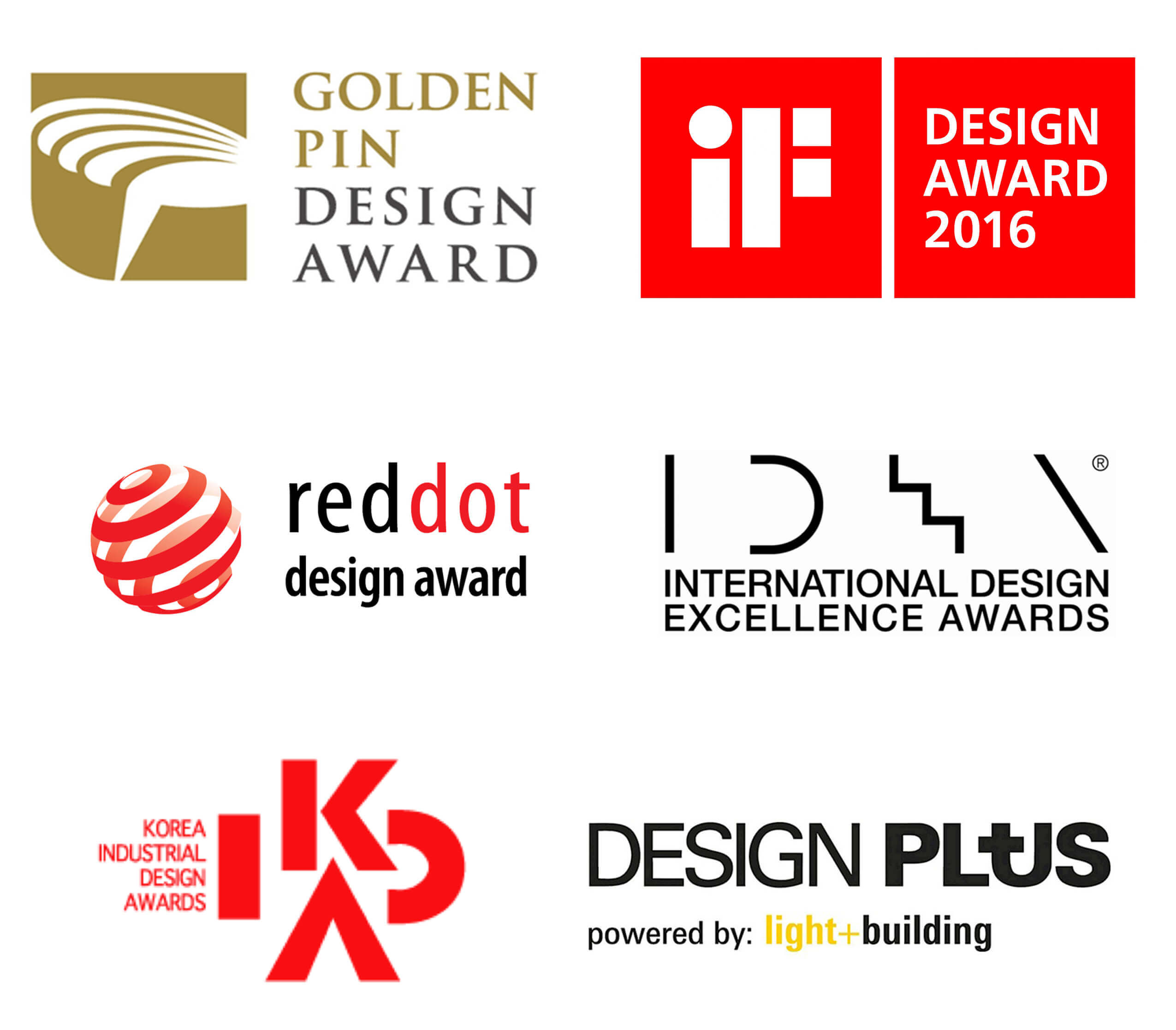 Logos de premios de marcas AG Lighting